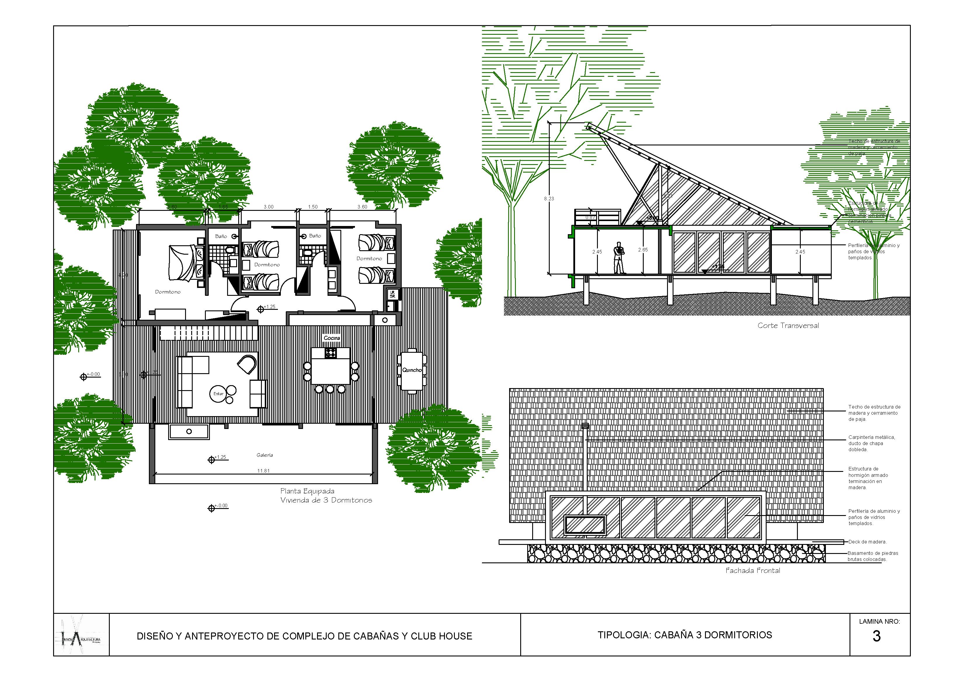 EcoVita Country Club Blockhaus Variante 3
